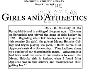 Girls and Athletics