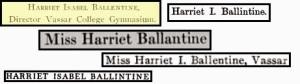 Ballintine Spelling